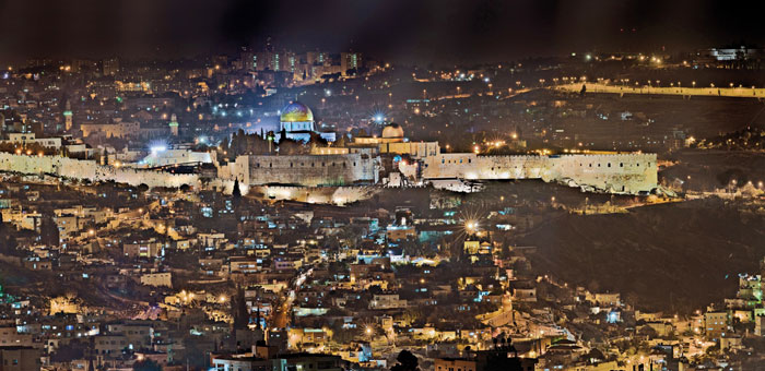 0112 - Jerusalem at night