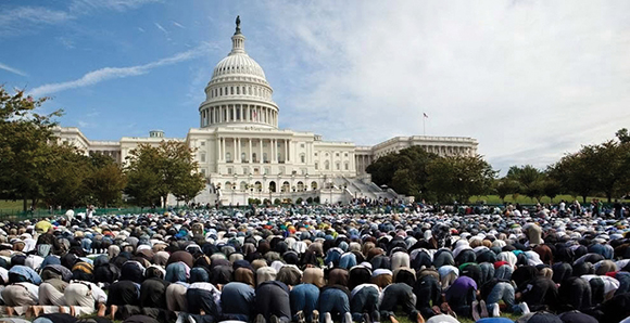 0215 - Top - Muslims Pray on Capitol Hill