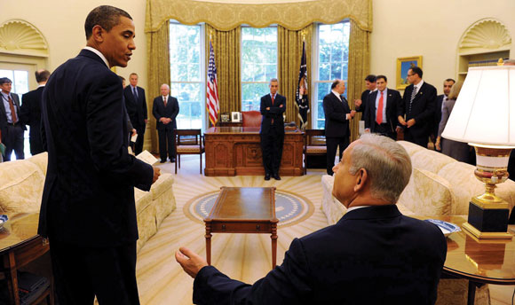 0313 - Netanyahu and Obama in the Oval Office