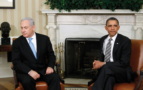 0313 - Netanyahu and Obama at a press conference