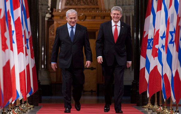 0314 Top - Netanyahu visits Harper in Canada