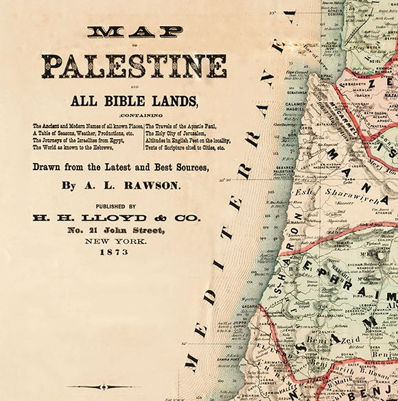 0316 - Bible Readers Map of Palestine