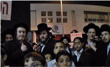 0411 - ultra-Orthodox demonstration 2c