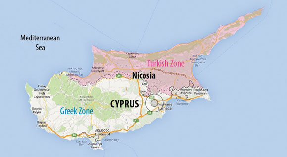 0414 - Map of Cyprus