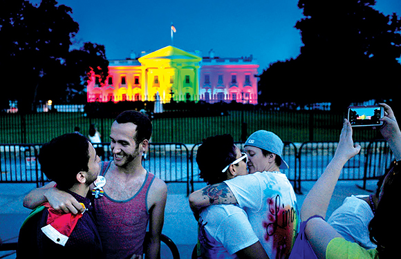 0416 - White House in Rainbow Colors