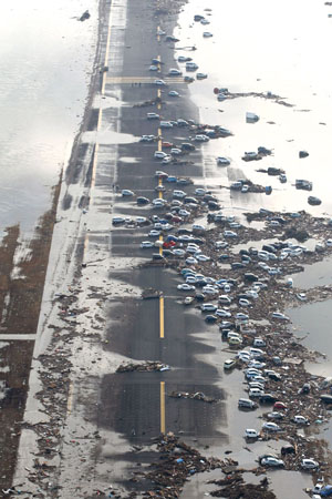 0511 - cars swept off the highway