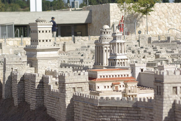 0513 - Model of Herod's palace in Jerusalem