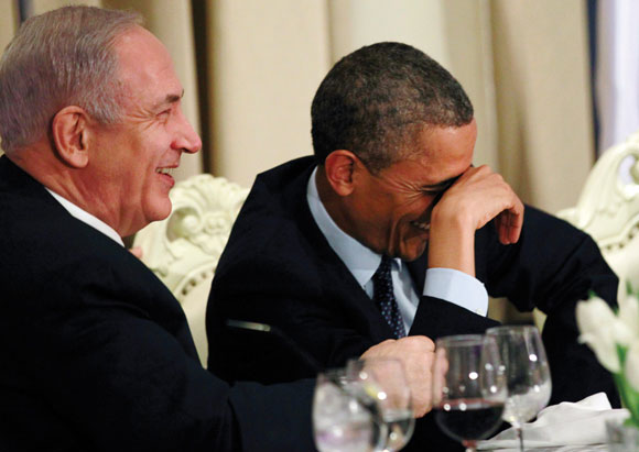 0513 - President Obama and PM Netanyahu share a laugh