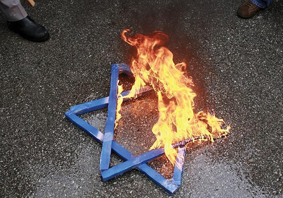 0815 Burning Star of David