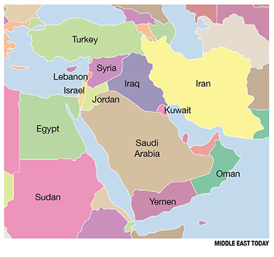 0816 - Middle East Map