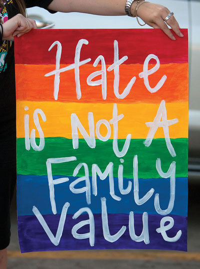 0912 - Hate is not a family value sign