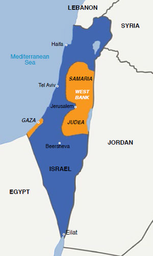0913 - map of Israel