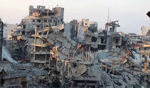 1013 - Top - Homs in ruins