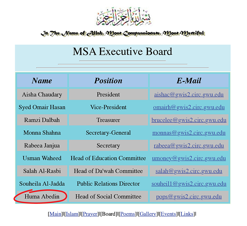 1016 - Muslim Students Association's Executive Board