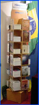 Maoz Hebrew books display case currently in different congregations throughout Israel