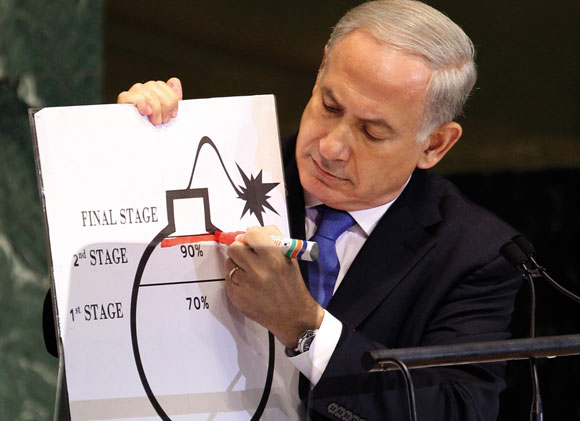 1112 - Netanyahu marks a red line for Iran