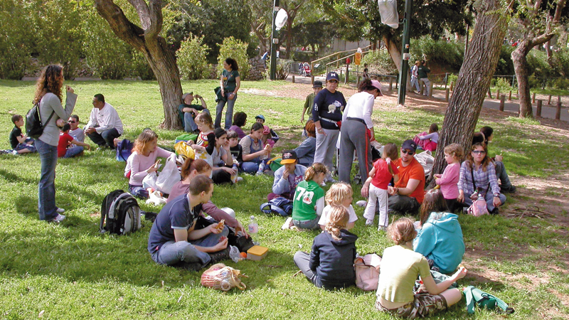 Children's outing at a park