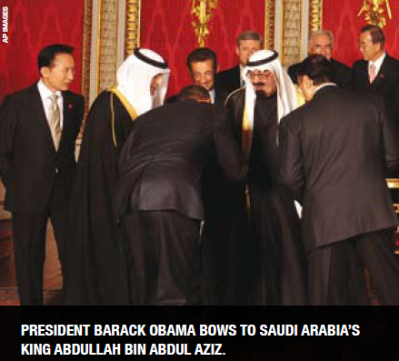 0410-Obama Bows to King Abdullah