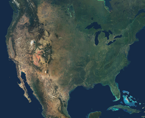 0610-North America from space