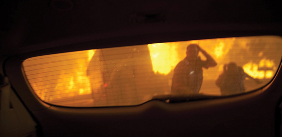 0111-Fire in rear view mirror