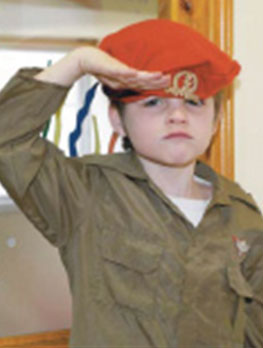 Purim - soldier costume